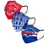 Buffalo Bills NFL Mens Matchday 3 Pack Face Cover