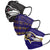 Baltimore Ravens NFL Mens Matchday 3 Pack Face Cover