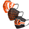 Cincinnati Bengals NFL Mens Matchday 3 Pack Face Cover