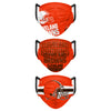Cleveland Browns NFL Mens Matchday 3 Pack Face Cover