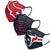 Houston Texans NFL Mens Matchday 3 Pack Face Cover