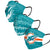 Miami Dolphins NFL Mens Matchday 3 Pack Face Cover