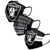 Las Vegas Raiders NFL Mens Matchday 3 Pack Face Cover