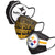 Pittsburgh Steelers NFL Mens Matchday 3 Pack Face Cover