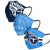 Tennessee Titans NFL Mens Matchday 3 Pack Face Cover