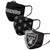 Las Vegas Raiders NFL 3 Pack Face Cover