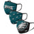 Philadelphia Eagles NFL 3 Pack Face Cover