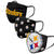 Pittsburgh Steelers NFL 3 Pack Face Cover (PREORDER - SHIPS IN JUNE)