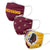 Washington Redskins NFL 3 Pack Face Cover