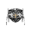 New Orleans Saints NFL Tie-Dye Beaded Tie-Back Face Cover