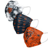 Chicago Bears NFL Womens Matchday 3 Pack Face Cover