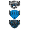 Carolina Panthers NFL Womens Matchday 3 Pack Face Cover