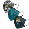 Jacksonville Jaguars NFL Womens Matchday 3 Pack Face Cover