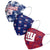 New York Giants NFL Womens Matchday 3 Pack Face Cover