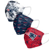 New England Patriots NFL Womens Matchday 3 Pack Face Cover