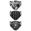 Las Vegas Raiders NFL Womens Matchday 3 Pack Face Cover