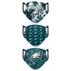 Philadelphia Eagles NFL Womens Matchday 3 Pack Face Cover