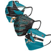 San Jose Sharks NHL Mens Matchday 3 Pack Face Cover(PREORDER - SHIPS EARLY APRIL)