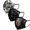 Vegas Golden Knights NHL Womens Matchday 3 Pack Face Cover