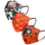 Philadelphia Flyers NHL Womens Matchday 3 Pack Face Cover