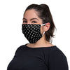Repeat Skull Pleated Face Cover