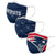 New England Patriots NFL 3 Pack Face Cover