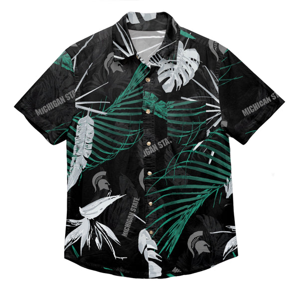 25ff8dc1 Michigan State Spartans NCAA Mens Neon Palm Button Up Shirt (PREORDER -  SHIPS IN JUNE