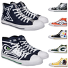 NFL Mens High Top Big Logo Canvas Shoes