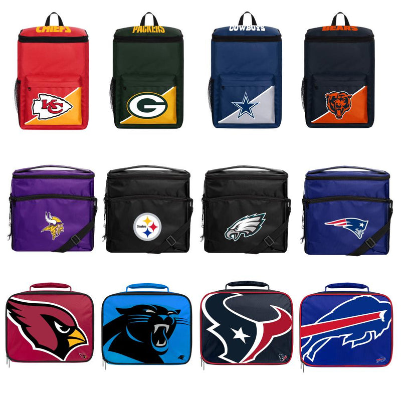 NFL Detroit Lions Insulated Lunch Cooler Bag with Zipper Closure Black