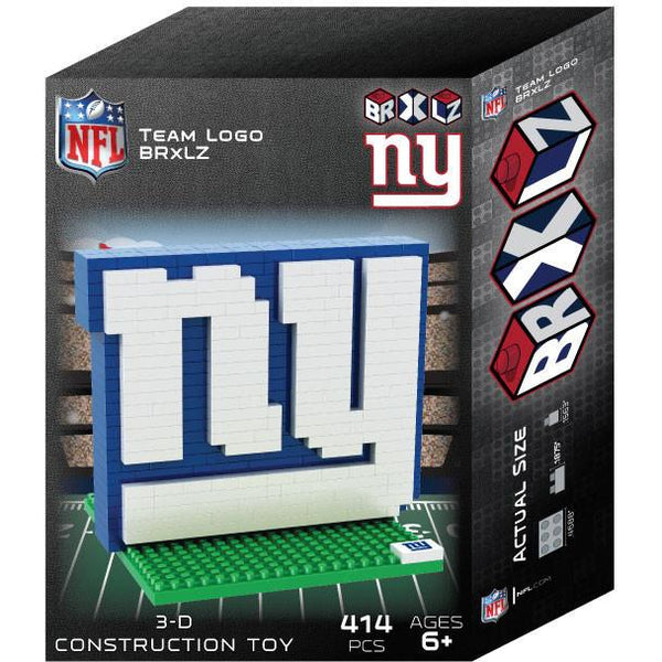 New York Giants NFL 3D BRXLZ Puzzle Team Logo (SHIPS IN EARLY DECEMBER)