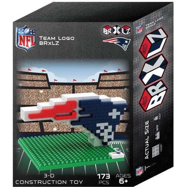 New England Patriots NFL 3D BRXLZ Puzzle Team Logo (SHIPS IN EARLY DECEMBER)