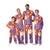 Clemson Tigers NCAA Busy Block Family Holiday Pajamas