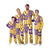 LSU Tigers NCAA Busy Block Family Holiday Pajamas