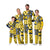 Michigan Wolverines NCAA Busy Block Family Holiday Pajamas
