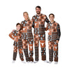 Texas Longhorns NCAA Busy Block Family Holiday Pajamas