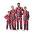 Wisconsin Badgers NCAA Busy Block Family Holiday Pajamas