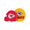 Kansas City Chiefs NFL 2 Pack Helmet & Circle Push-Itz Fidget