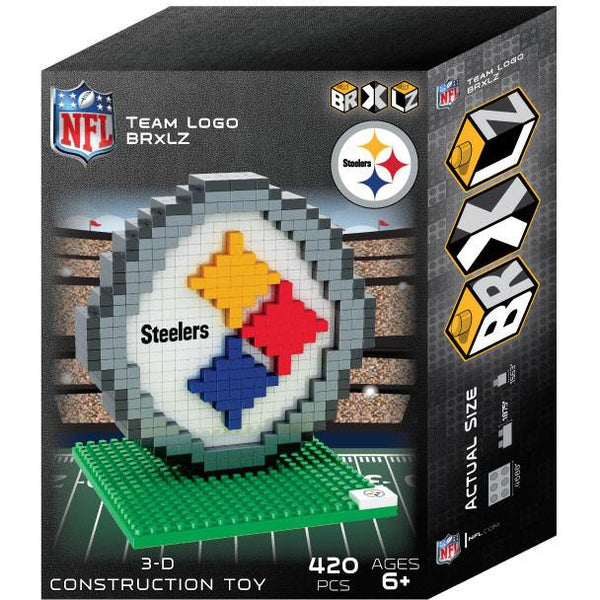 Pittsburgh Steelers NFL 3D BRXLZ Puzzle Team Logo (SHIPS IN EARLY DECEMBER)