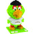 Pittsburgh Pirates MLB 3D BRXLZ Puzzle Blocks - Mascot- Pirate Parrot