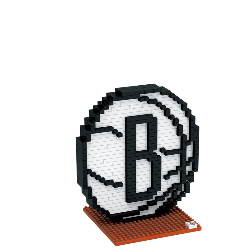 Brooklyn Nets Nba 3d Brxlz Puzzle Blocks Logo