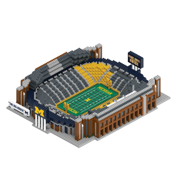 fd77f7841d3 Michigan Wolverines NCAA 3D BRXLZ Puzzle Stadium Blocks Set