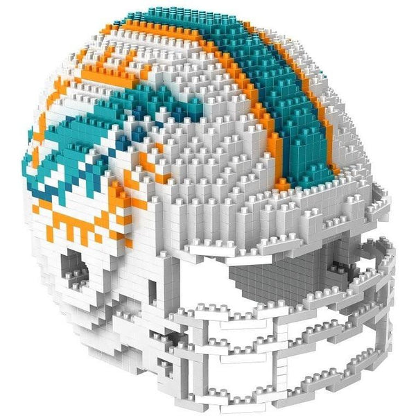 Miami Dolphins NFL 3D BRXLZ Puzzle Helmet Set (PRE ORDER - Delivered By 12-19)