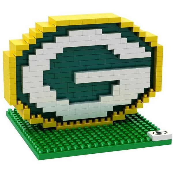 Green Bay Packers NFL 3D BRXLZ Puzzle Team Logo