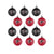 Atlanta Falcons NFL 12 Pack Ball Ornament Set