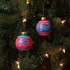 Buffalo Bills NFL 2 Pack Glass Ball Ornament Set