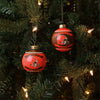 Cleveland Browns NFL 2 Pack Glass Ball Ornament Set