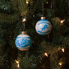 Detroit Lions NFL 2 Pack Glass Ball Ornament Set