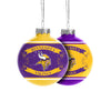 Minnesota Vikings NFL 2 Pack Glass Ball Ornament Set