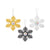 Pittsburgh Steelers 3 Pack Metal Glitter Snowflake Ornament
