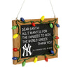 New York Yankees MLB Resin Chalkboard Sign Ornament